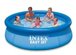 runder pool zum Aufblasen von Intex in der Frontansicht